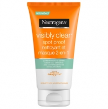 Neutrogena® Visibly Clear® Spot proof 2-en-1 nettoyant et masque