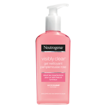 Visbly Clear gel nettoyant exfoliant pamplemousse rose